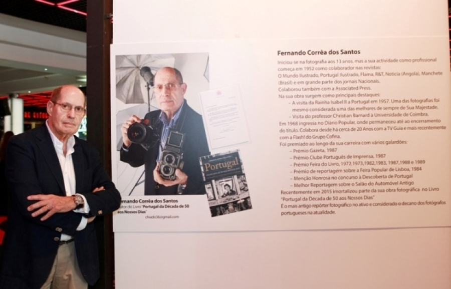 """80 Anos, 80 Fotos"" de Fernando Corrêa dos Santos, no átrio principal do Casino Estoril"